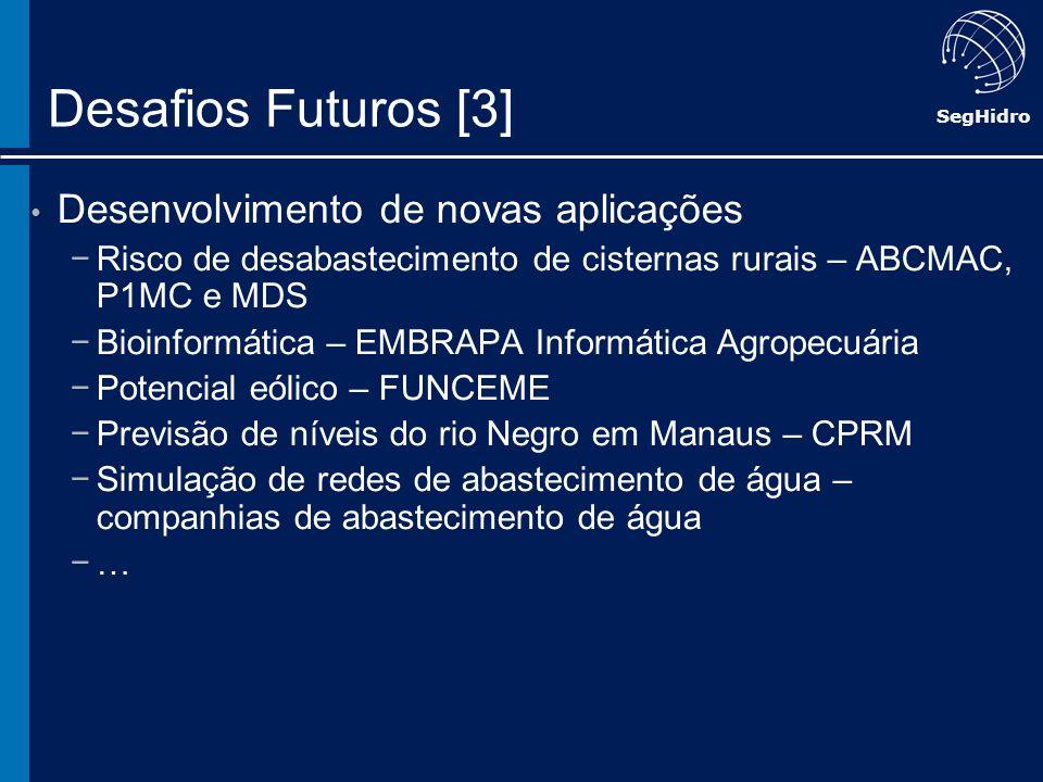 Desafios Futuros [3] Desenvolvimento de novas aplicações